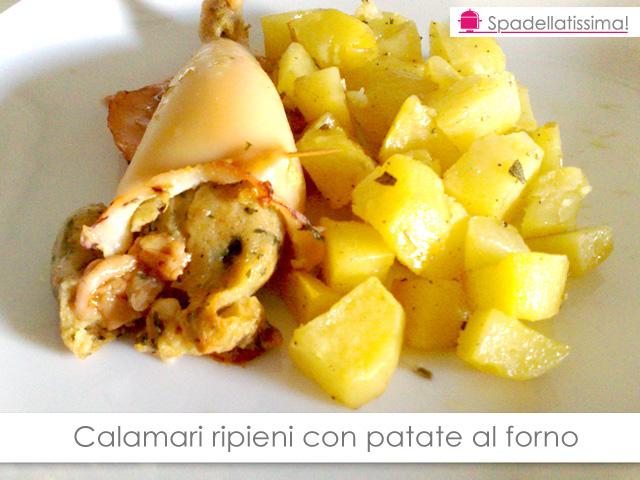 Calamari ripieni con patate al forno
