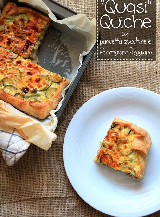 """""""Quasi Quiche"""": con pancetta, zucchine e Parmigiano Reggiano (senza glutine)"""
