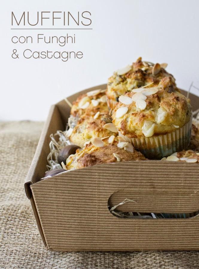 Muffin salati con funghi e castagne per l'MTC n° 43