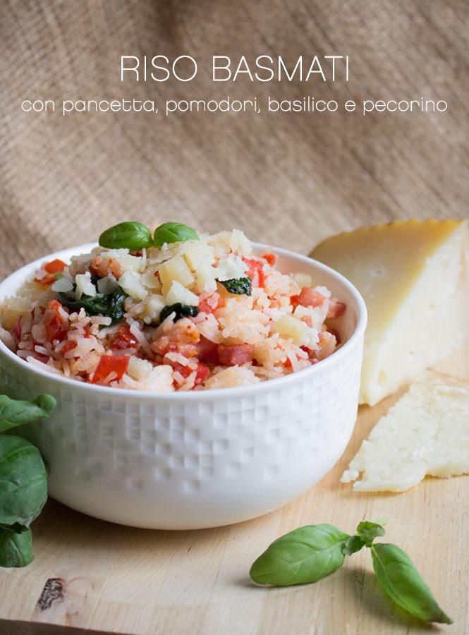 Video ricetta: Riso Basmati con pancetta, pomodori, basilico e pecorino