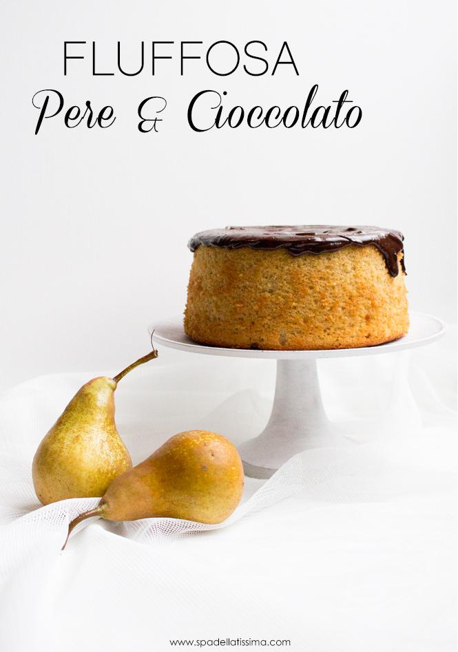 Fluffosa_Pere_e_cioccolato_chiffon_cake
