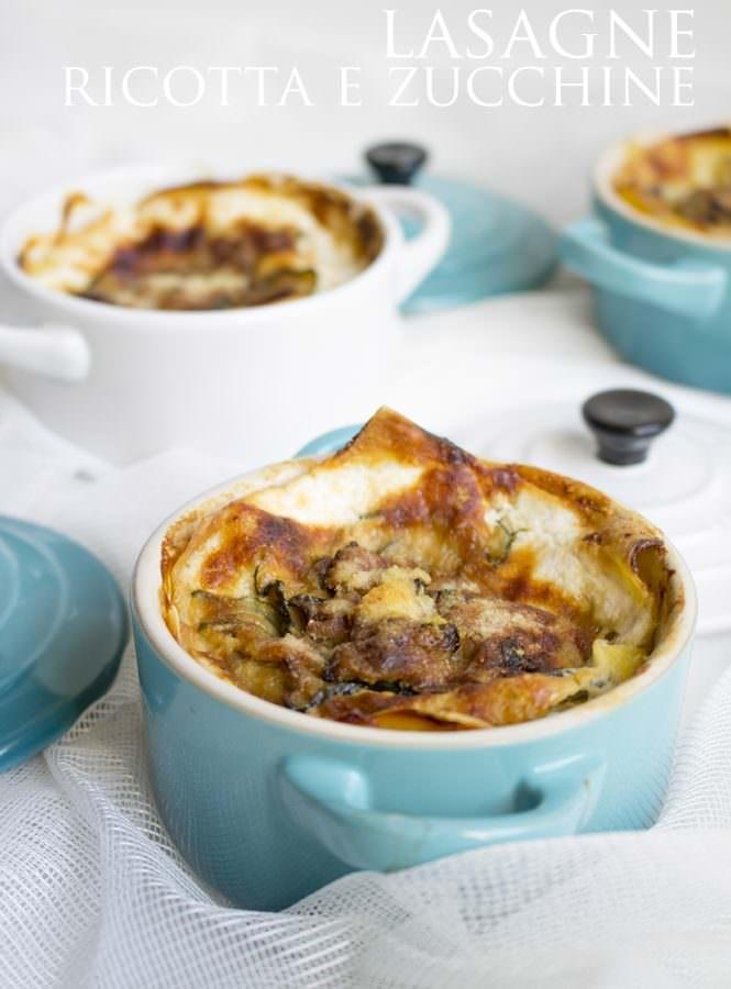 Lasagne ricotta e zucchine in cocotte