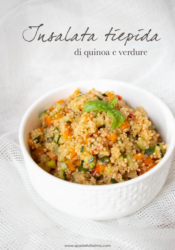 Ricette Quinoa Dietetiche.Insalata Tiepida Di Quinoa Con Verdure Spadellatissima