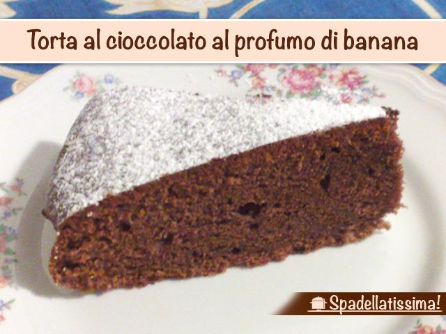 Torta al cioccolato al profumo di banana
