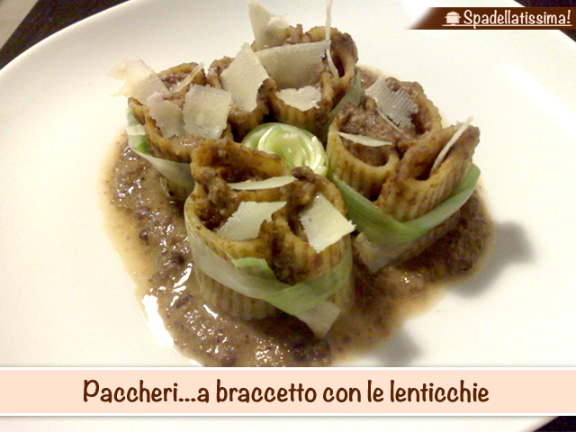 Paccheri…a braccetto con le lenticchie