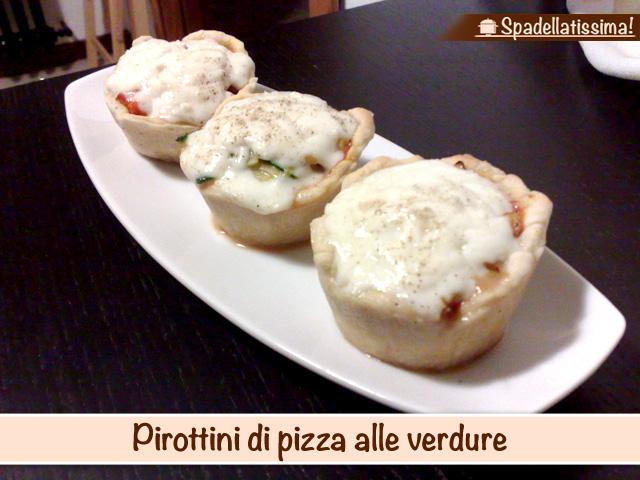 Pirottini di pizza alle verdure