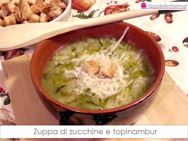 Zuppa di zucchine e topinambur