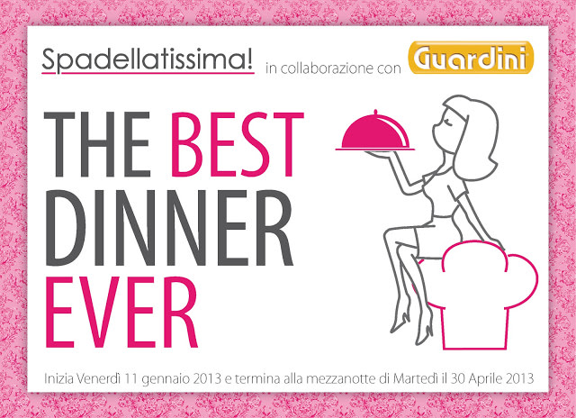 THE BEST DINNER EVER – i premi messi in palio da Guardini e qualche piccola specifica nel regolamento