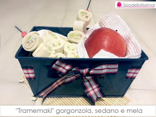 Tramemaki gorgonzola, sedano e mele Pink Lady