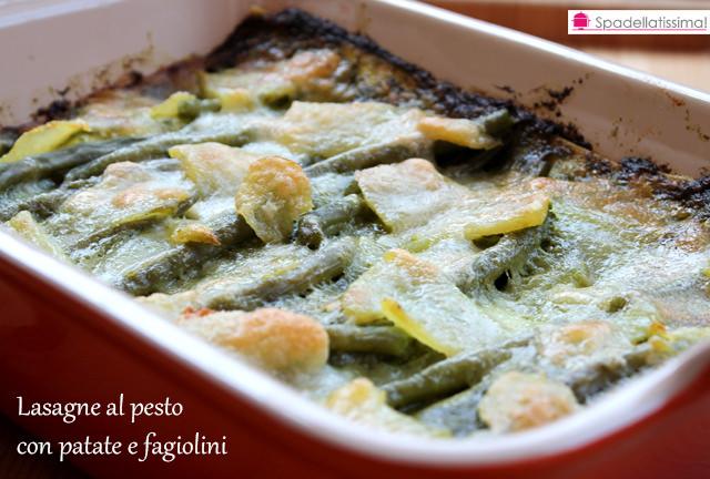 Lasagne pesto, patate e fagiolini (versione gluten free)