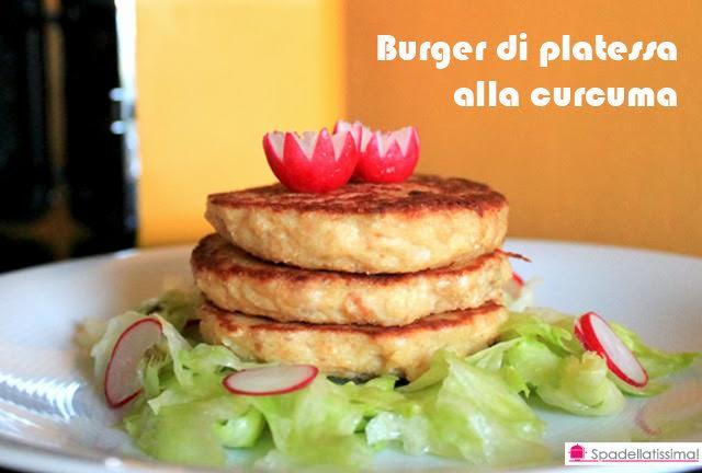 Burger di platessa alla curcuma