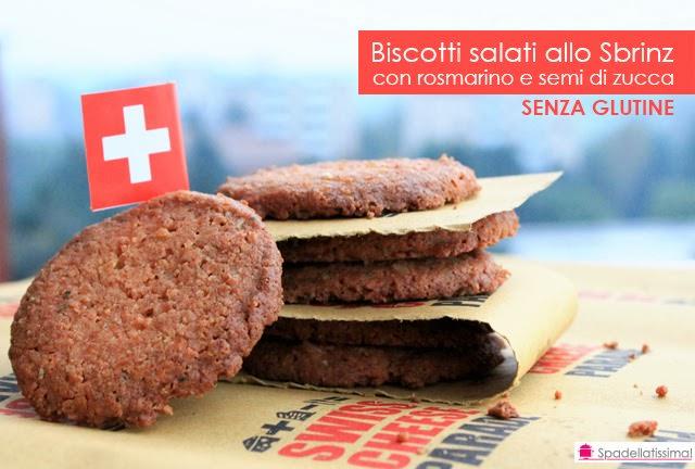 Cheese a porter – Biscotti salati allo Sbrinz, rosmarino e semi di zucca tostati (senza glutine)
