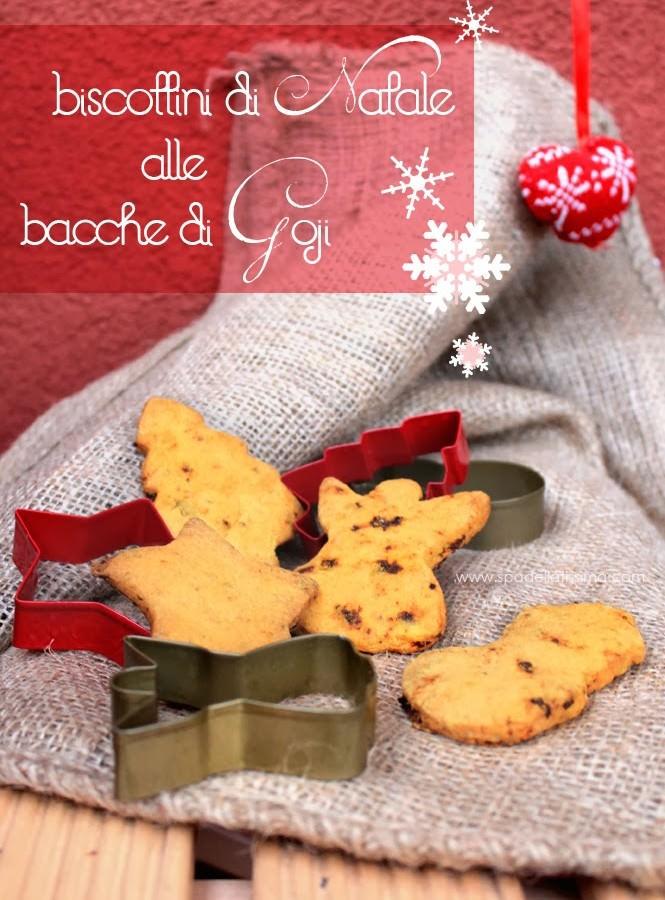 Biscottini di Natale gluten free alle bacche Goji