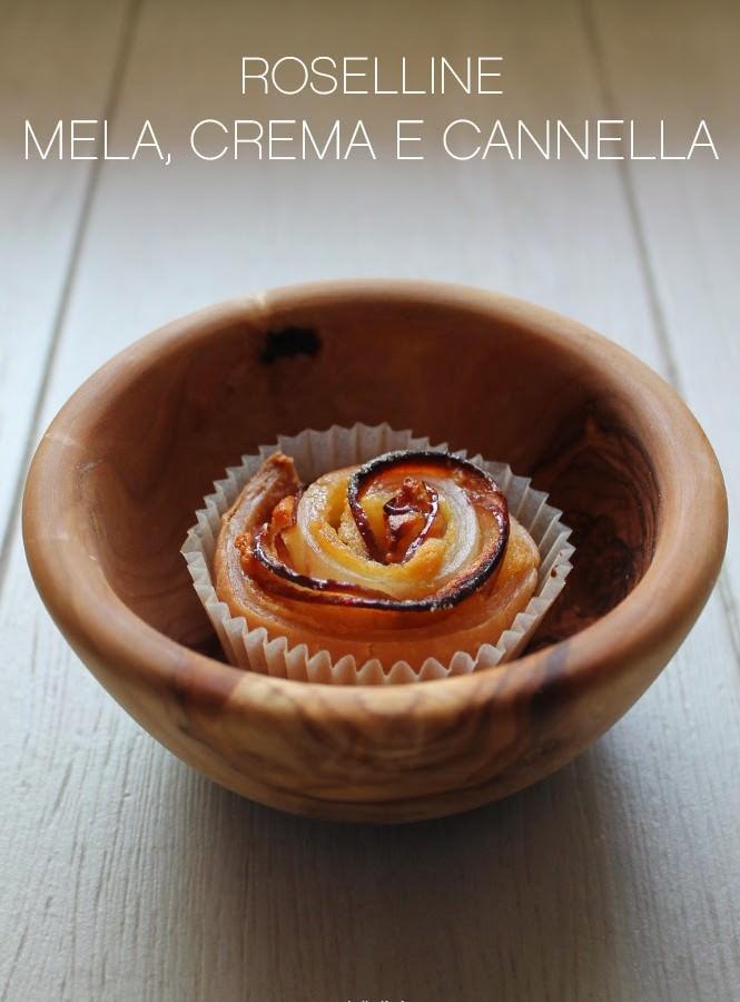 Roselline mela, crema e cannella
