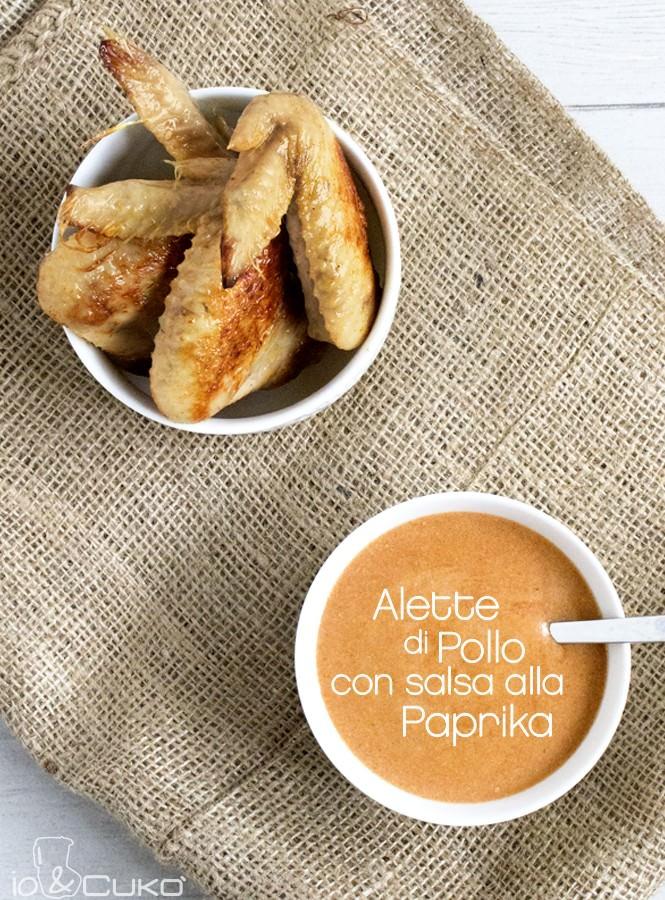 io&Cukò: Alette di pollo con salsa alla paprika