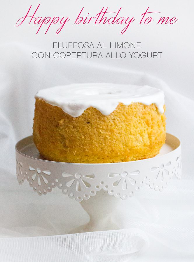 Fluffosa al limone con copertura allo yogurt