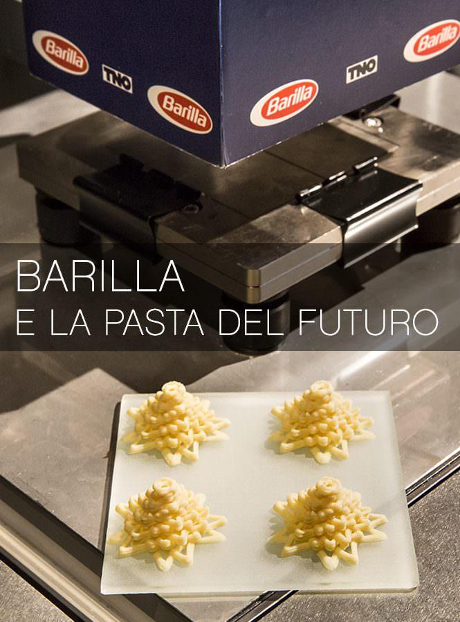 Barilla presenta la pasta del futuro: stampata in 3D, con forme mai viste!
