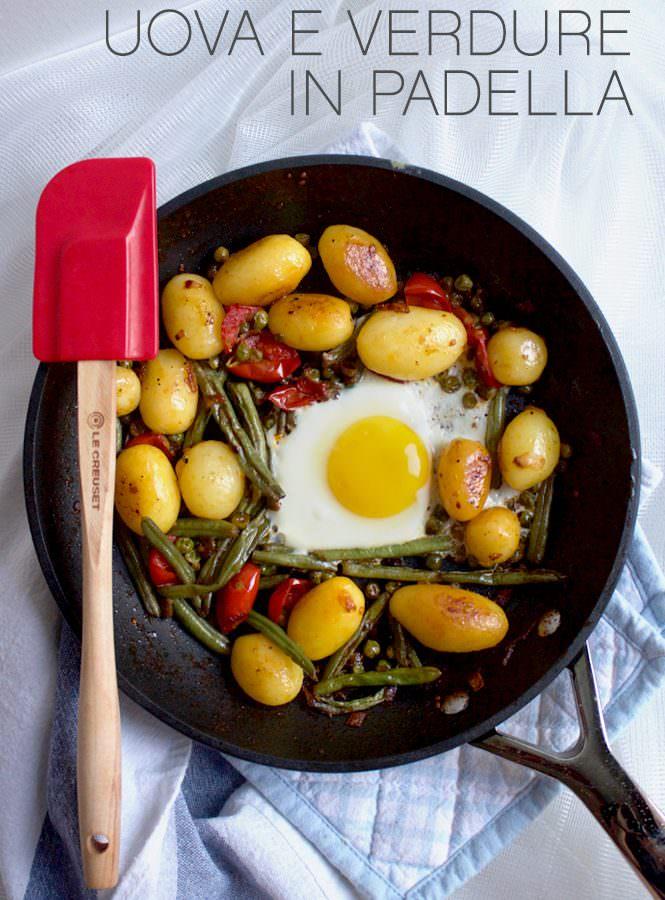 Uova e verdure in padella