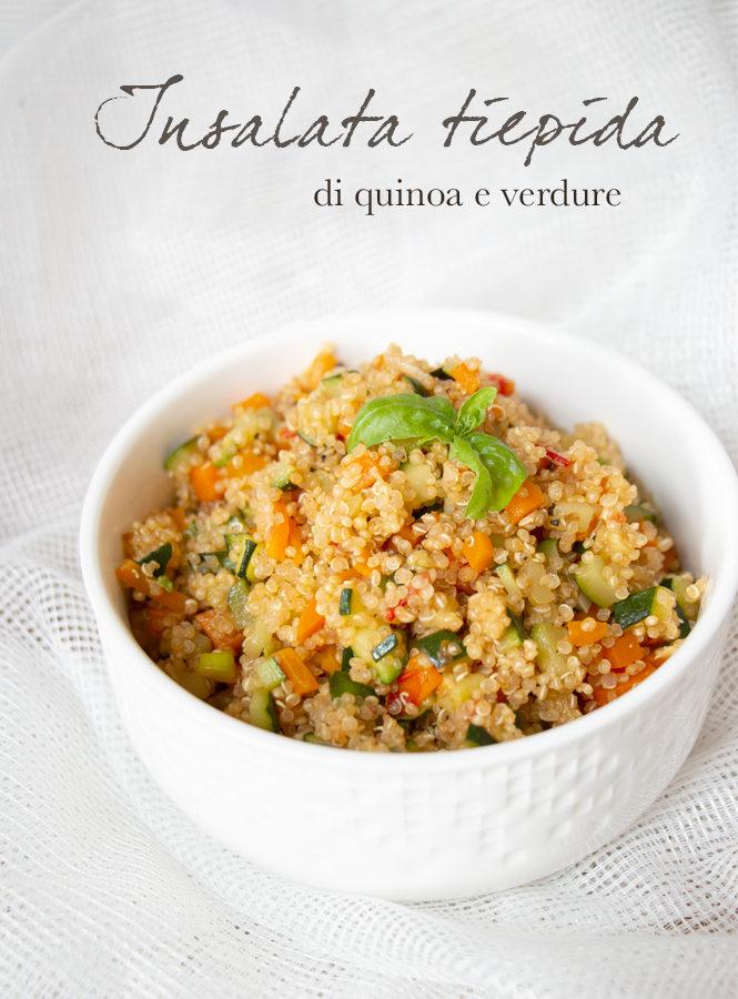Insalata tiepida di quinoa con verdure