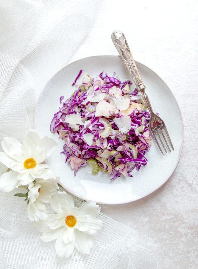 Spadellatissima insalata di cavolo viola