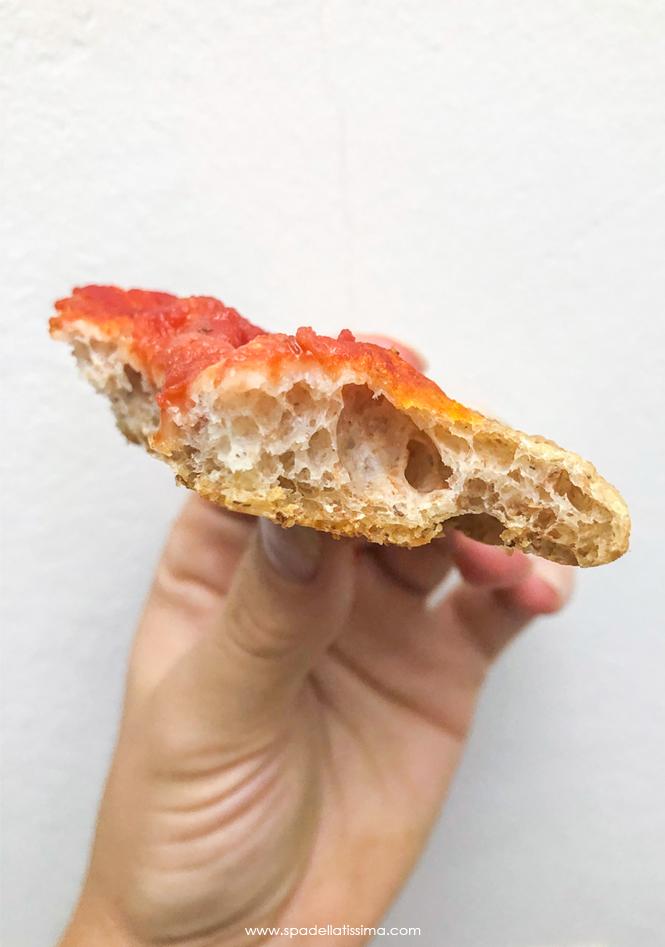 interno pizza integrale fatta in casa